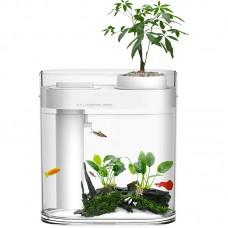 Аквариум Xiaomi Descriptive Geometry Amphibious Fish Tank (белый)