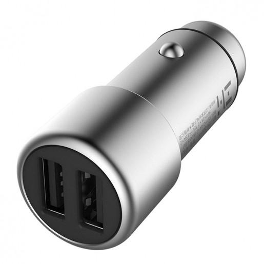 Автомобильная зарядка ZMi Car Charger 2 USB (серебряный)