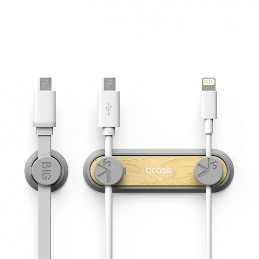 Держатель для кабелей Xiaomi bcase TUP Magnetic Nano Clip (светлое дерево)