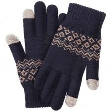 Перчатки для сенсорных экранов FO Touch Wool Gloves 160/80 (темно-синий)