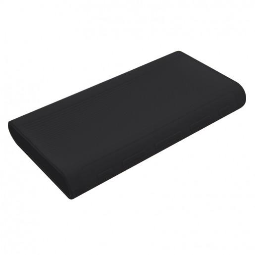 Силиконовый чехол для Xiaomi Power Bank 3 20000 (черный)