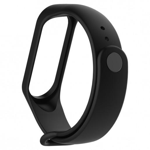 Силиконовый ремешок для Xiaomi Mi Band 3/Mi Band 4 (черный)